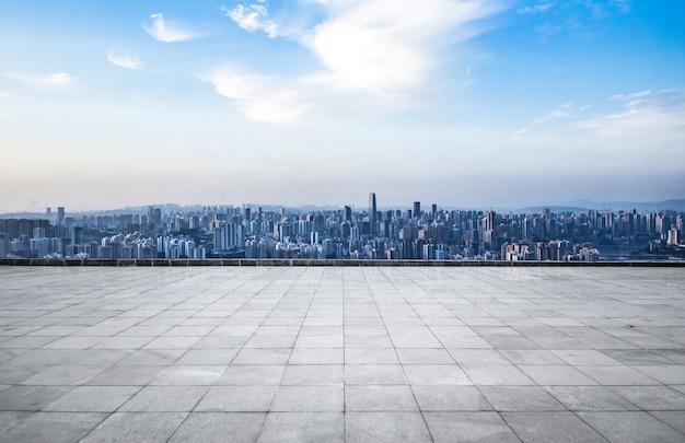 近代的な大都市のスカイライン、重慶、中国、重慶のパノラマ。