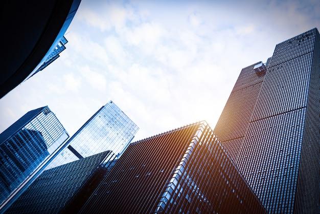 商業区域の超高層ビル、重慶、中国