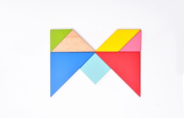 Цветовая мозаика английского алфавита