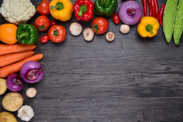 Таблица с овощами