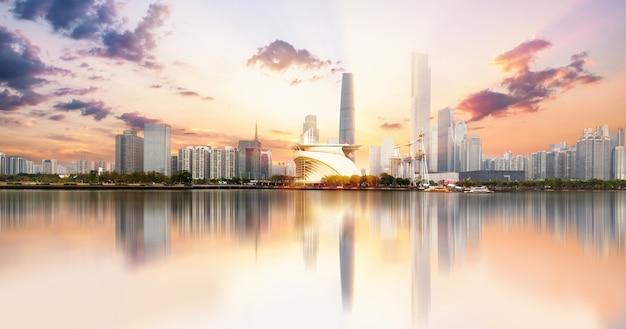 広州、中国の都市のスカイライン