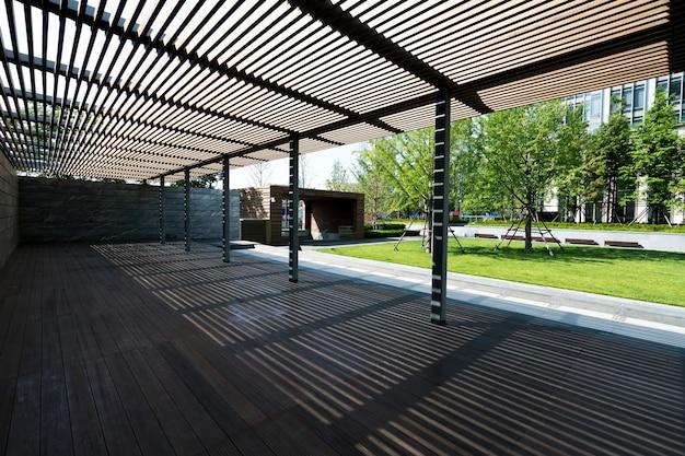 中国青島の公園の木造住宅