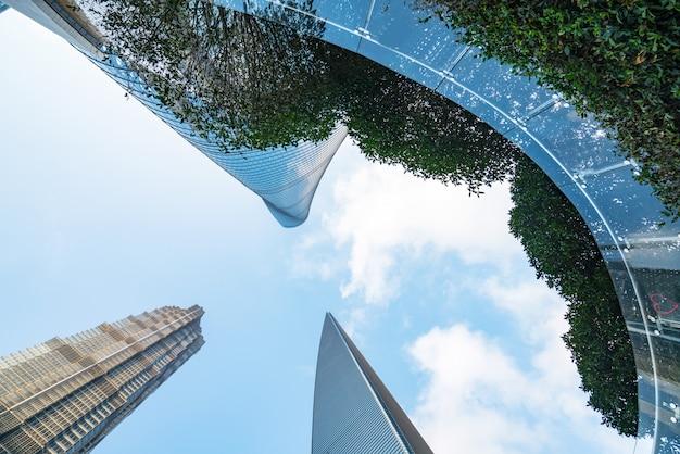 Небоскребы финансового центра, шанхай, китай