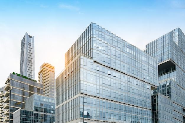 金融センター、上海、中国の高層ビル