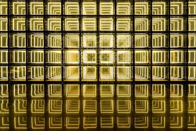 Абстрактный желтый флуоресцентный фон стены