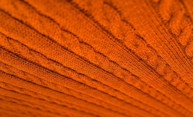 秋の色のニット毛布