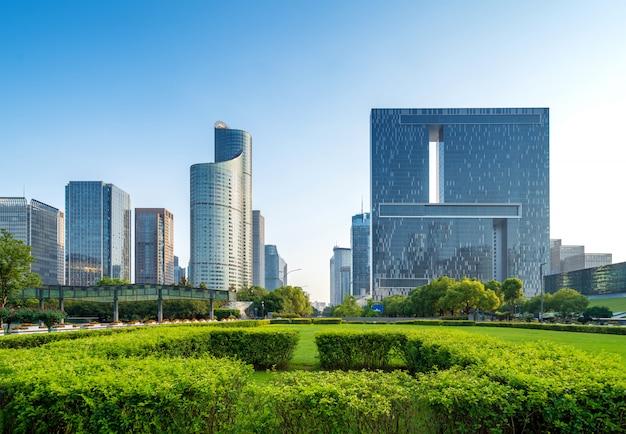 Городской пейзаж ханчжоу, китай