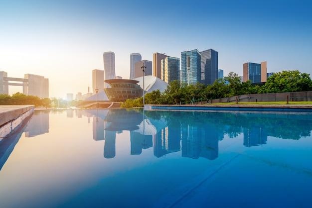 Китай ханчжоу городской пейзаж