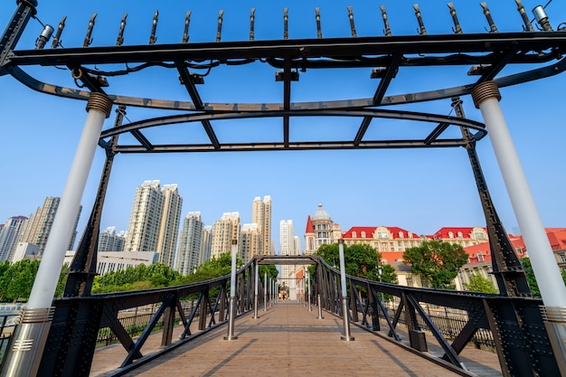 Город тяньцзинь, китай