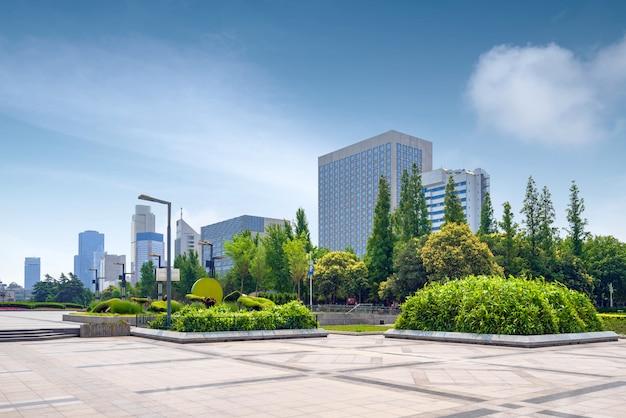 Городской пейзаж цзинань, китай