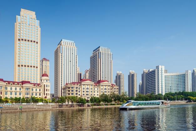 天津の街並み、中国