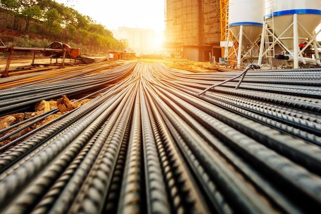 工事現場の鉄筋