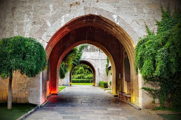 古代都市の壁の門