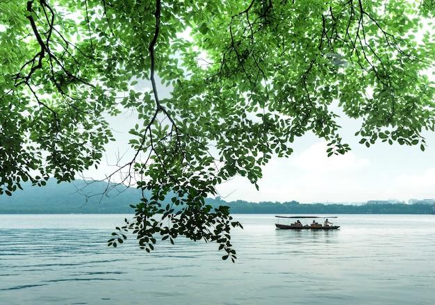 Китай ханчжоу западное озеро