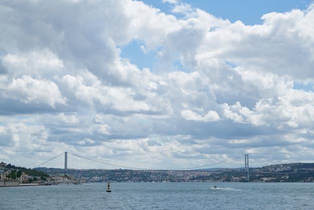 水から見た海の上の橋