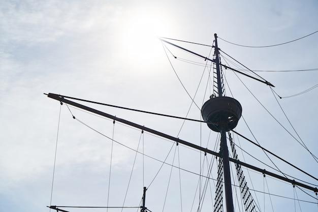木製の背景古いマラッカ船