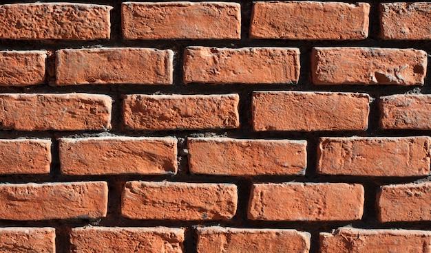 壁はレンガで作られました