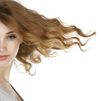 美しい赤毛モデル