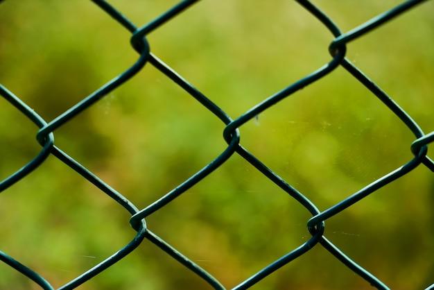 鉄条網のクローズアップ