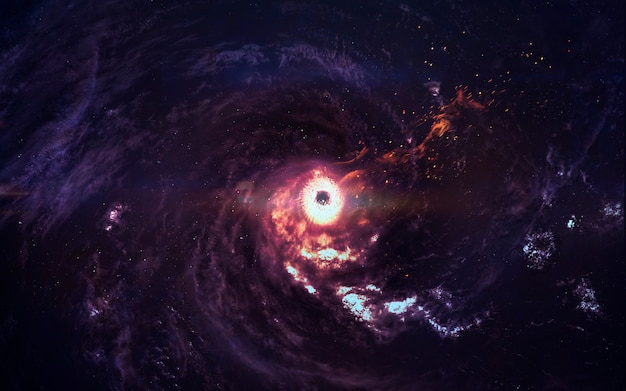 深宇宙の信じられないほど美しい銀河。ブラックホール。