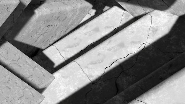 き裂を有する抽象的な灰色の石の表面