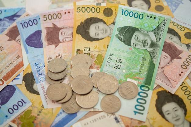 韓国通貨の銀行とコイン