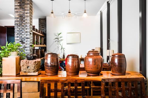 アジア風茶室インテリア