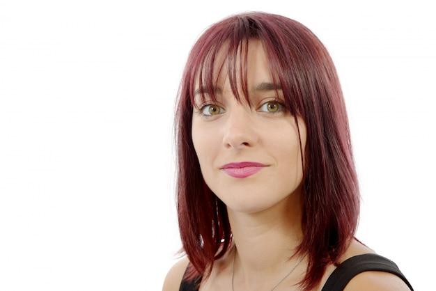 赤い毛を持つ美しい女性