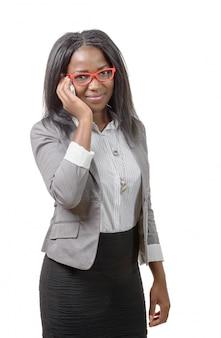 赤い眼鏡の実業家