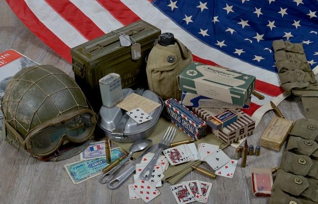 ノルマンディーに上陸するアメリカ兵の装備