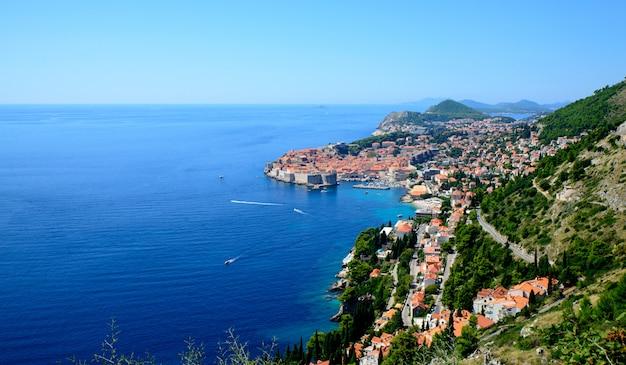 クロアチアの海の眺め