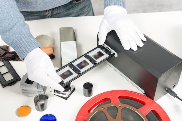 スライドとフィルムをスキャンしてデジタルデータに変換します
