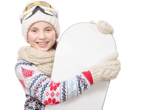 スノーボードでかなり若い女の子