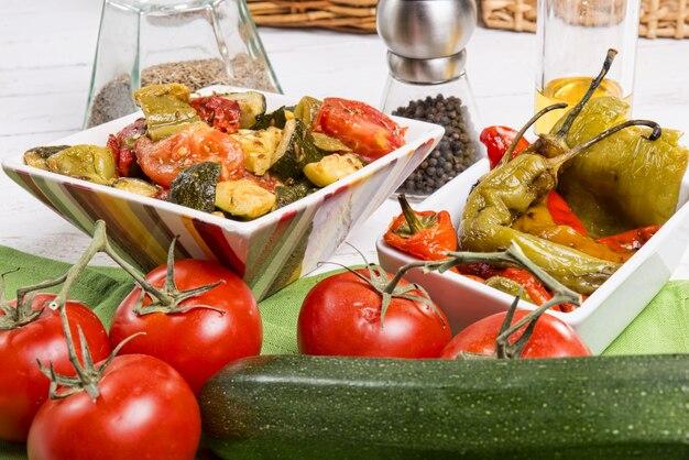 ピーマンのマリネ。地中海料理