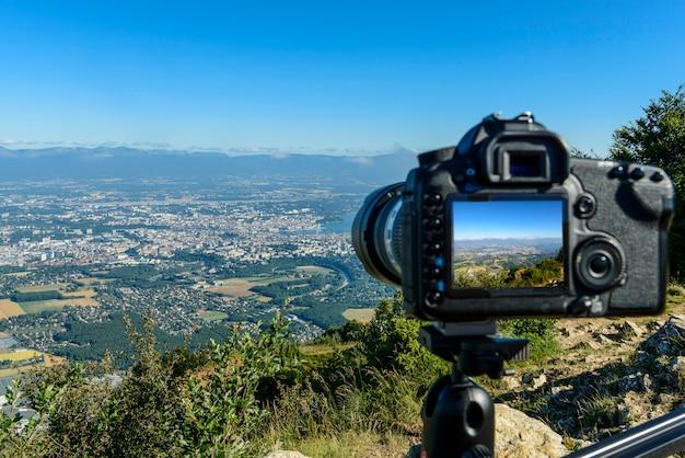 カメラでジュネーブへの眺め
