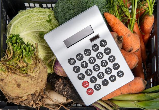 野菜・電卓の高値