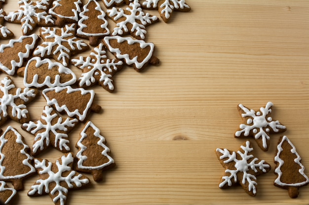 クリスマスのジンジャーブレッドの背景