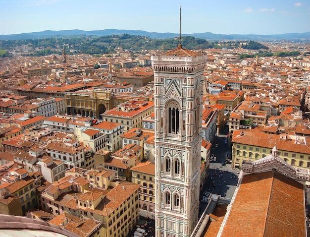 フィレンツェの歴史的中心部のドゥオーモの眺め