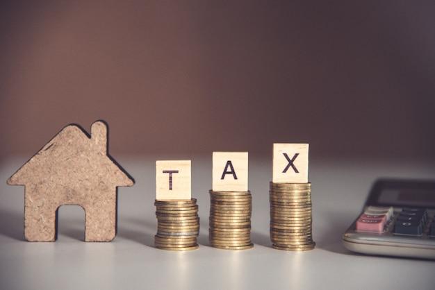 税コンセプトブロックワード