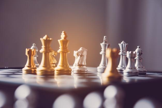 チェスボード - 成功する競争力のあるビジネスアイデア。