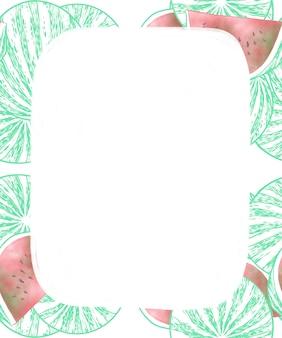 Арбузная фруктовая рамка