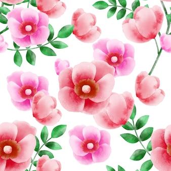 ワイルドローズの花のシームレスパターン