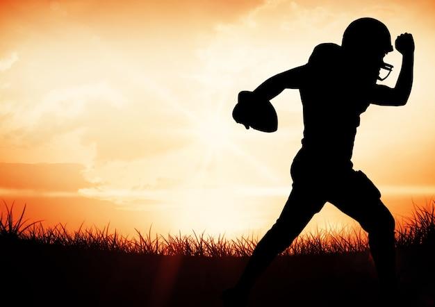Командный вид спорта, вызывая движение работает понимание