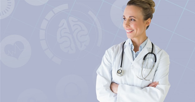 空白のハンサムな医師の医療健康