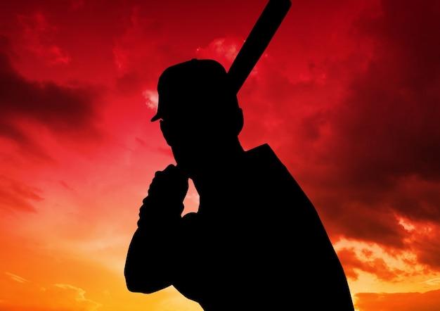 Профессиональный бейсбол один объект экспертизы битой связи