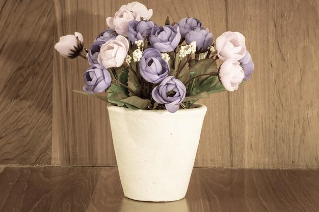 Ретро валентина роза цветок крупным планом