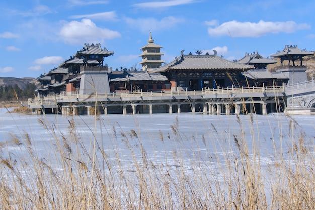 冬には古代中国の宮殿