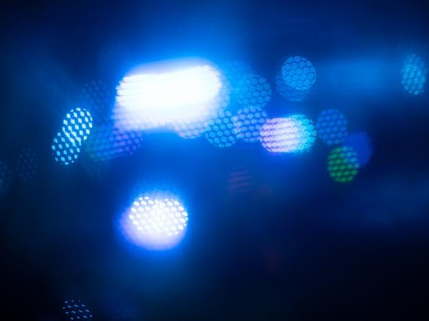 抽象的な青いライト、やり場のない夜景