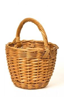 白の古い枝編み細工品バスケット