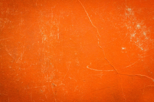 オレンジ色のスクリーンパターンを持つヴィンテージ布ブックカバー